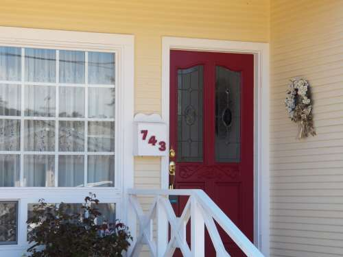Door Porch House Home Architecture Cottage
