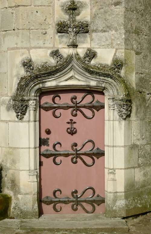 Door Iron Castle Pierre Forged France Former