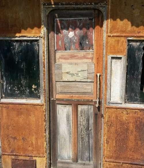 Door Wood Patina Rust Old Rusted Broken Bare