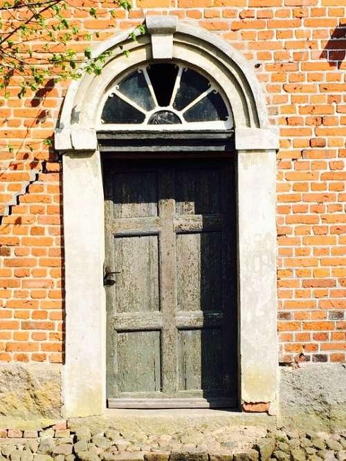 Door Brick Building Semicircular Window Stone