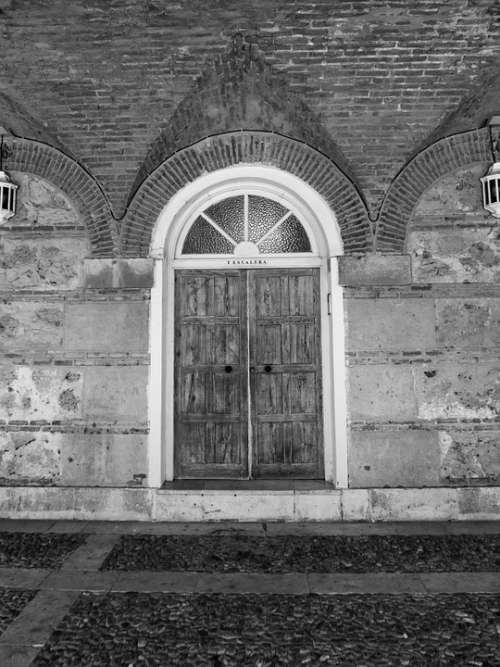 Door Old Housing House Black And White