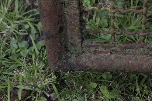 Door Old Input Goal Metal Close Up Rusted Rust