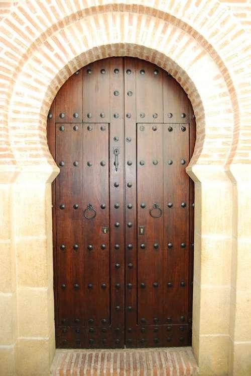 Door Wood Arab Cordoba Spain Andalusia