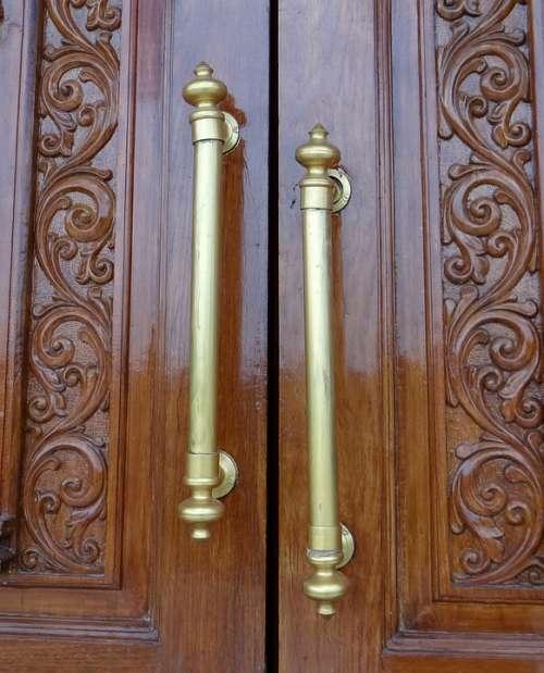 Door Handle Ornate Antique Brass India