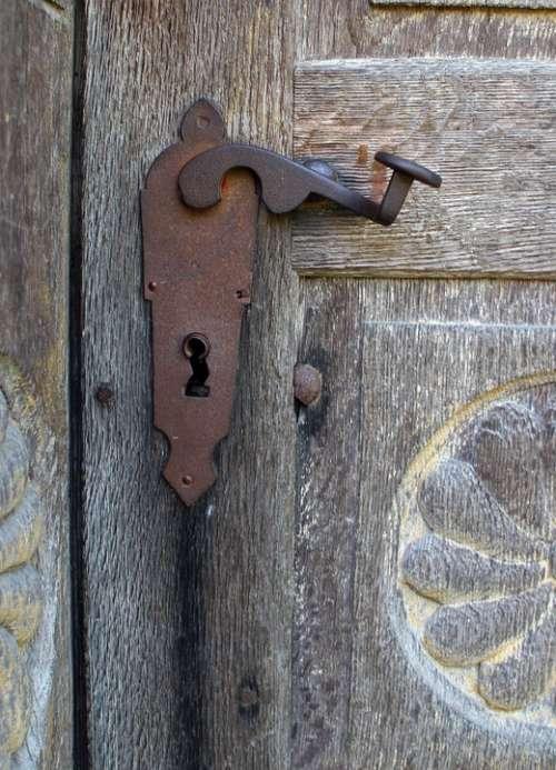 Door Handle Old Metal Handle Input Antique Rusted