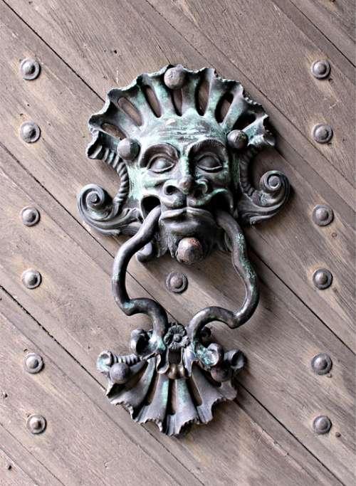 Doorknocker Bronze Middle Ages Antique