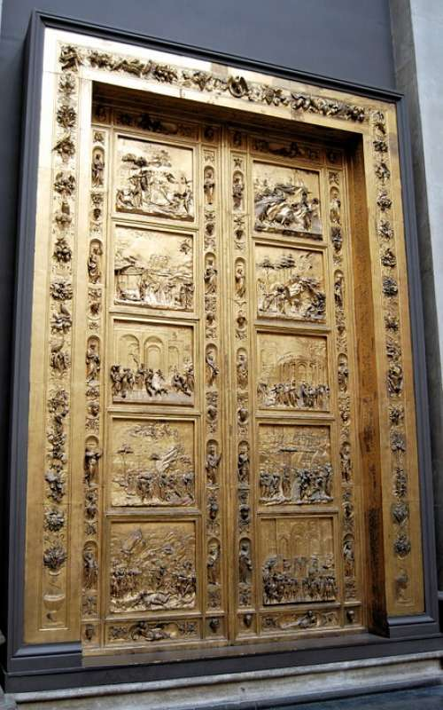 Doors Closed Paneled Carved Architectural