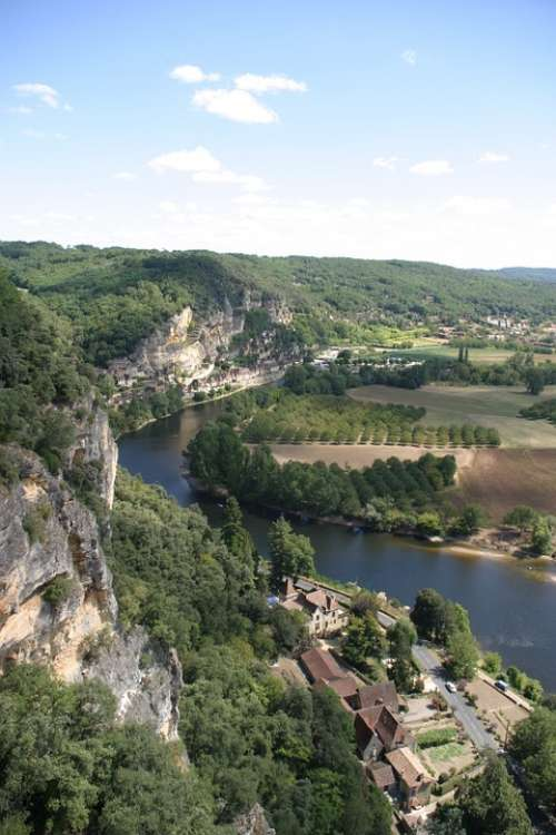 Dordogne River Landscape France South Of France