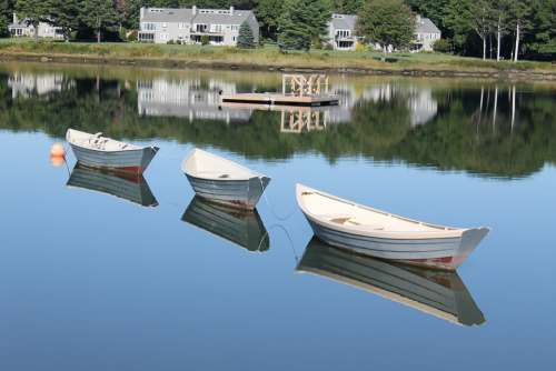 Dories Boats Nature Rowing Maritime Beach Boating