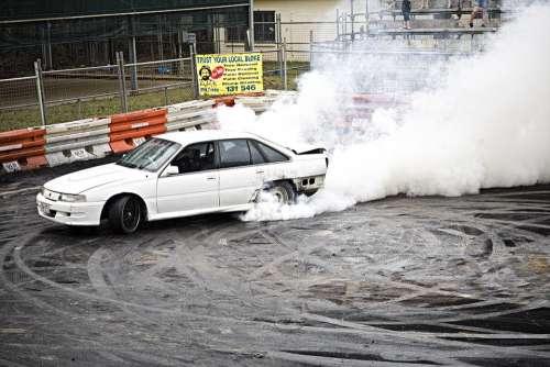 Drag Smoke Burn Out Rallying Car Driver Race Car