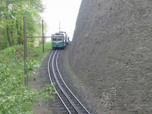 Dragon Rock Train Rails Siebengebirge