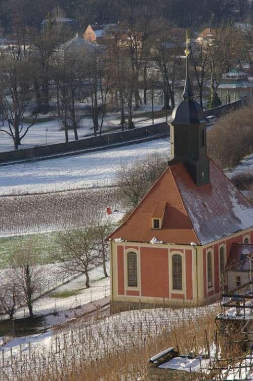 Dresden Pillnitz Vineyard Church Winter