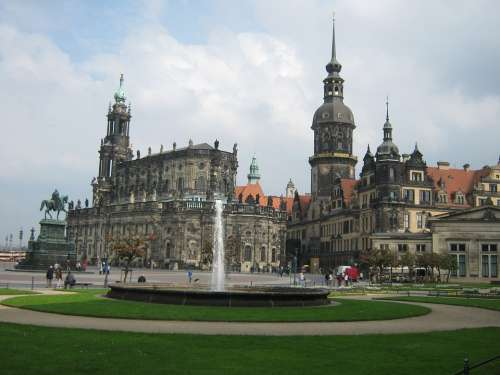 Dresden Historic Center Germany Church Cathedral