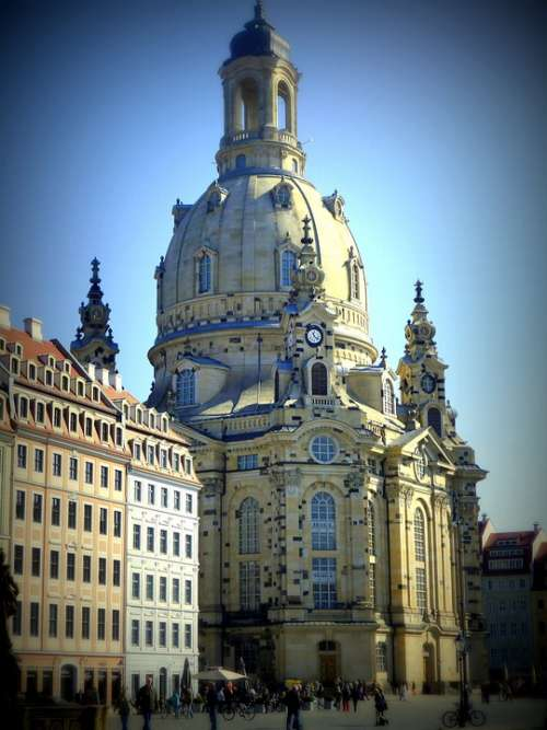 Dresden Frauenkirche Dresden City Neumarkt Germany