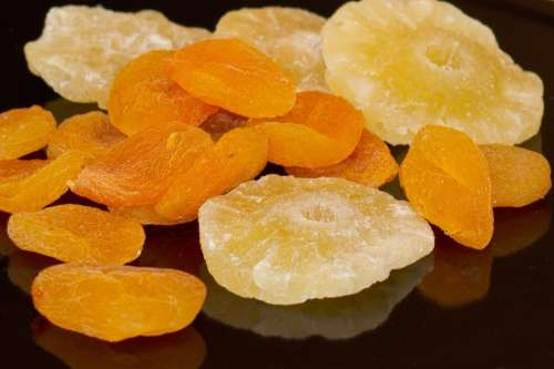 Dried Fruit Pineapple Apricots Sweet Sweetness Eat