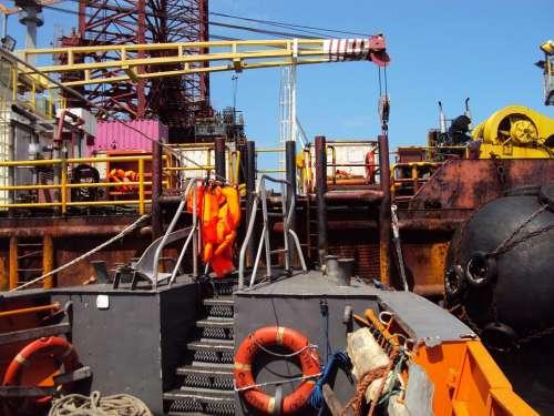 Drilling Platform Africa Gabon Travel