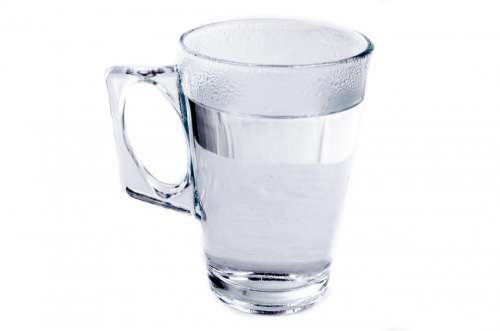 Drink Cup Water Profile Isolated Relief Cold