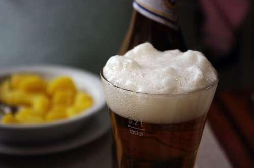 Drink Beer Beer Foam Foam White Serenity Rest