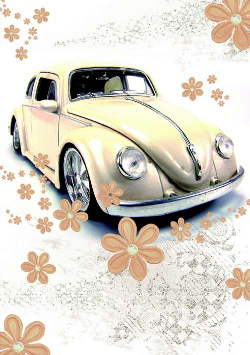 Driver'S License Vw Beetle Beetle Retro Card