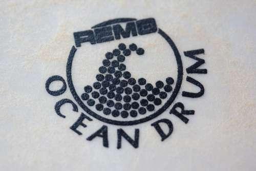Drum Leather Skin Printed