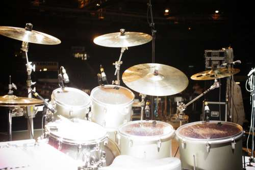 Drumset Cymbals Music Band Concert Drums