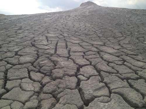 Dry Land Muddy Volcanes Dry Land Dirt Erosion