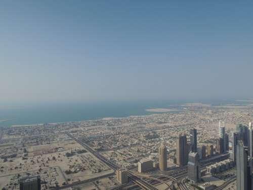 Dubai Uae Emirates Emirate Desert View