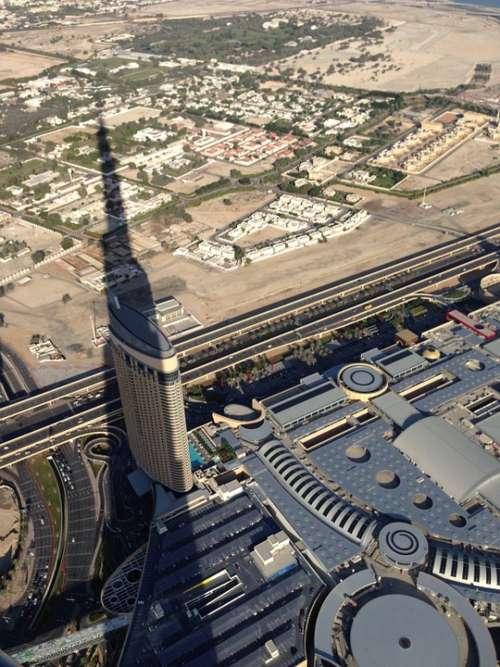 Dubai Burj Kalifa City Shadow Desert Arabic