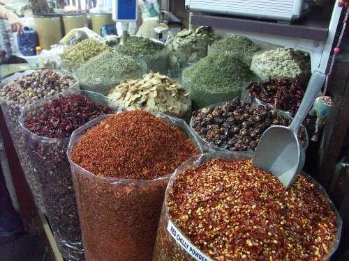 Dubai Market Spice Shopping Cook Exotic Oriental