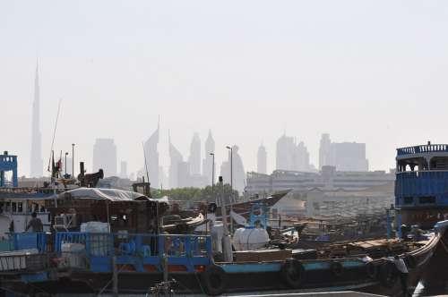 Dubai Cityscape Skyline Emirates Arab Skyscraper