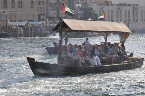 Dubai Ferry Harbor City Water Boat Vessel