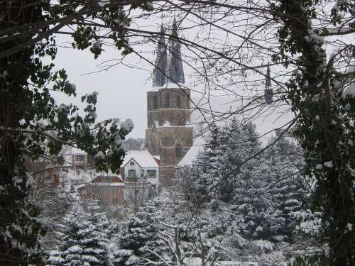 Duderstadt Eichsfeld Church Nature Winter Cold