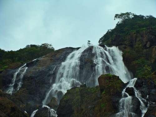 Dudhsagar Waterfall Goa India Western Ghats