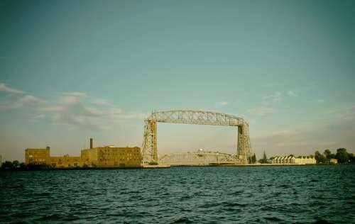 Duluth Minnesota Sky Clouds Lift Bridge