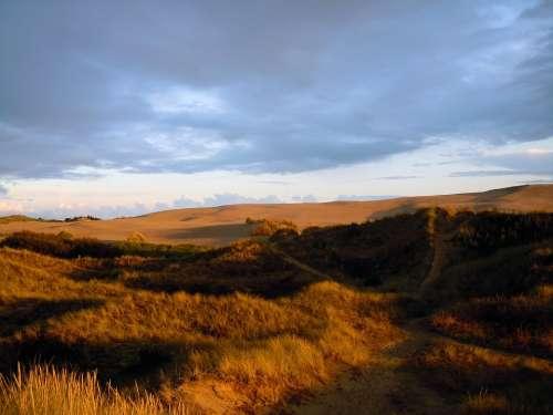Dunes Sand Dunes Dune Landscape Evening
