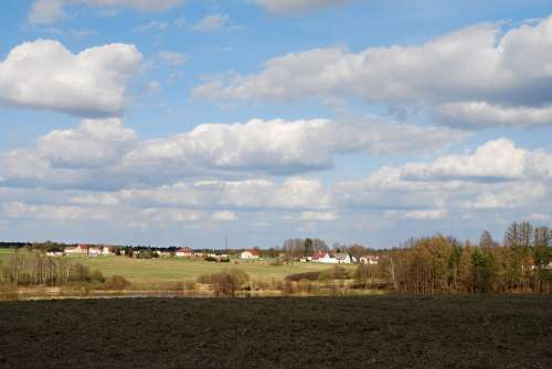 Early Spring South Bohemia Countryside