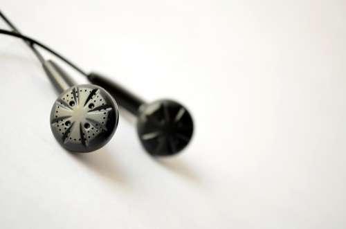 Earphones Black Iem Inears Headphones