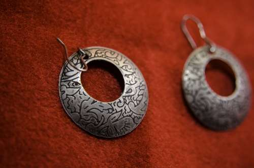 Earrings Indian Silver Fashion Jewelry Traditional