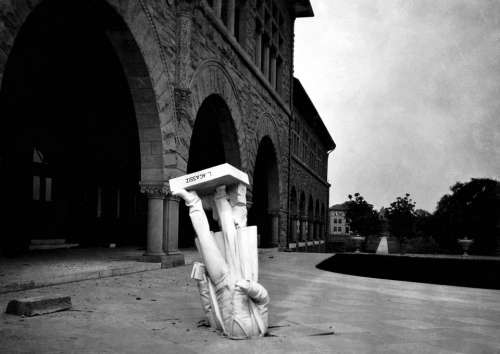 Earthquake Louis Agassiz Statue Stanford University