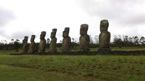 Easter Island Moai Stone Statue Rock