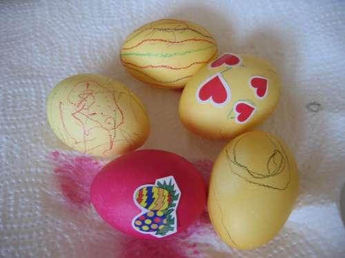 Easter Egg Easter Eggs Egg Colored Color Paint