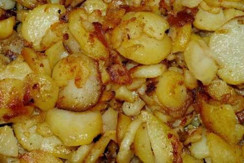 Eat Fried Potatoes Potato Eat Drink