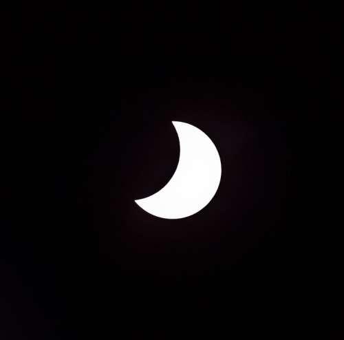 Eclipse Solar Sun Moon Partial Sky Astronomy