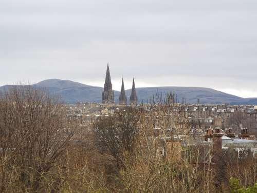 Edinburgh Skyline Scotland Historical Landmark Sky