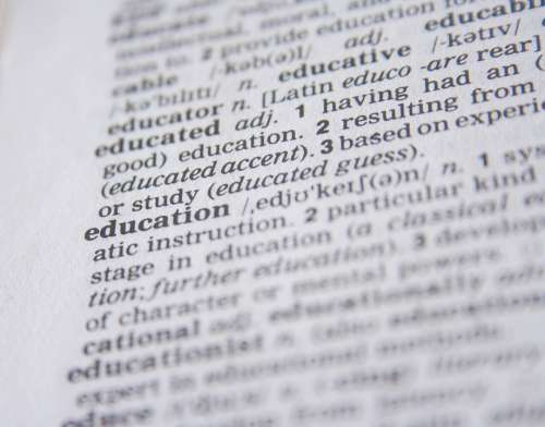 Education Dictionary Word Knowledge Definition