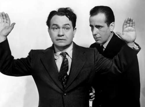 Edward G Robinson Humphrey Bogart Actors