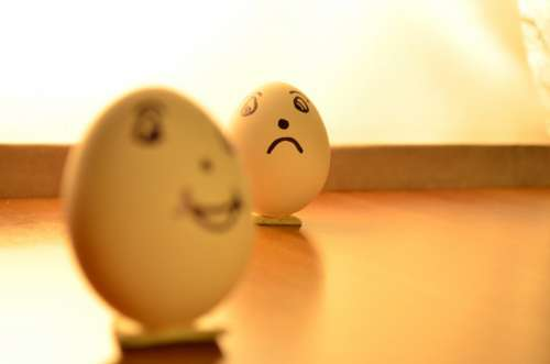 Eggs Expression Happy Sad Emoticons Funny