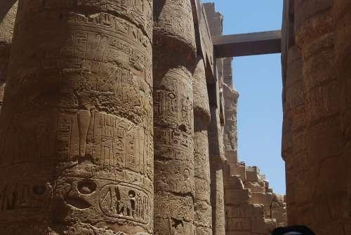 Egypt Column Temple
