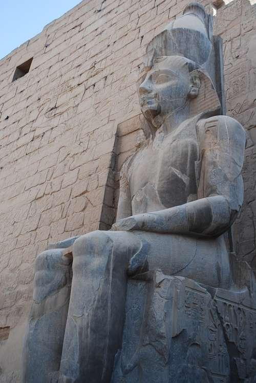 Egypt Statue Temple
