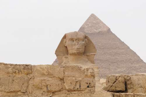 Egypt Sphinx Pyramid Old History Egyptian Cairo